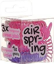 Voňavky, Parfémy, kozmetika Špirálové gumičky do vlasov ružové+fialová, 4 ks - Hair Springs
