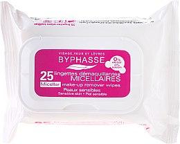 Voňavky, Parfémy, kozmetika Servítky na odstránenie make-upu - Byphasse Make-up Remover Micellar Solution Sensitive Skin Wipes