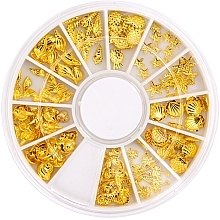 Voňavky, Parfémy, kozmetika Ozdoba na nechty v organizere - Peggy Sage Carousel For Nail Decorations Summer Gold