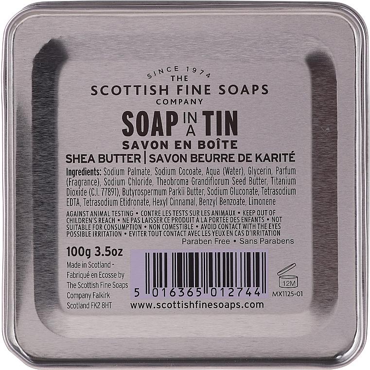 """Mydlo """"Bambucké maslo"""" - Scottish Fine Soaps Shea Butter Finest Triple-Milled Soap In A Tin — Obrázky N2"""