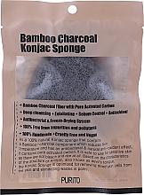 Voňavky, Parfémy, kozmetika Špongia Konjak s dreveným uhlím - Purito Bamboo Charcoal Konjac Sponge