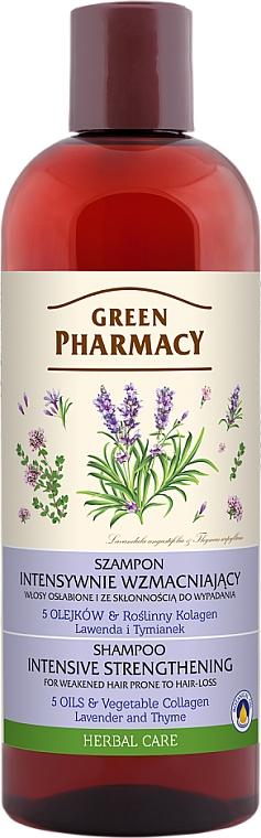 """Šampón pre oslabené, náchylné na vypadávanie vlasov """"Levanduľa a tymián"""" - Green Pharmacy"""