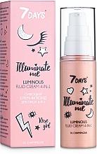 Voňavky, Parfémy, kozmetika Žiarivý krémový fluid na tvár 4 v 1 - 7 Days Illuminate Me Luminous Fluid Cream 4in1