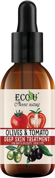 """Intenzívne sérum na tvár """"Paradajky a olivy"""" - Eco U Face Serum"""