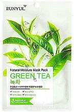 Voňavky, Parfémy, kozmetika Hydratačná textilná maska s extraktom zo zeleného čaju - Eunyul Natural Moisture Mask Pack Green Tea