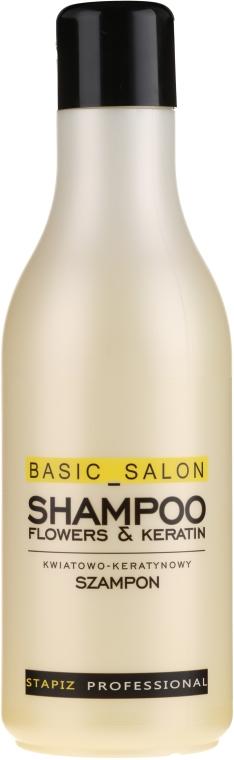 "Šampón na vlasy ""Kvet s keratínom"" - Stapiz Basic Salon Shampoo Flowers&Keratin"