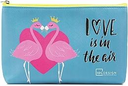 Voňavky, Parfémy, kozmetika Kozmetická taška s potlačou, modrá - IDC Design Accessories Cosmetig Bag