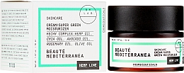 """Voňavky, Parfémy, kozmetika Krém na tvár """"Super zelený hydratačný"""" - Beaute Mediterranea Hemp Line Cream Super Green Moisturizer"""