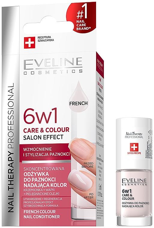 Spevňujúci lak na nechty 6v1 - Eveline Cosmetics Nail Therapy Professional