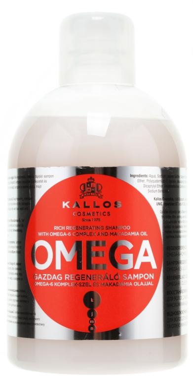 Regeneračný šampón s komplexom omega-6 a makadamovým olejom - Kallos Cosmetics Omega Hair Shampoo