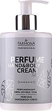 Voňavky, Parfémy, kozmetika Parfumovaný krém na ruky a telo - Farmona Professional Perfume Hand&Body Cream Silver