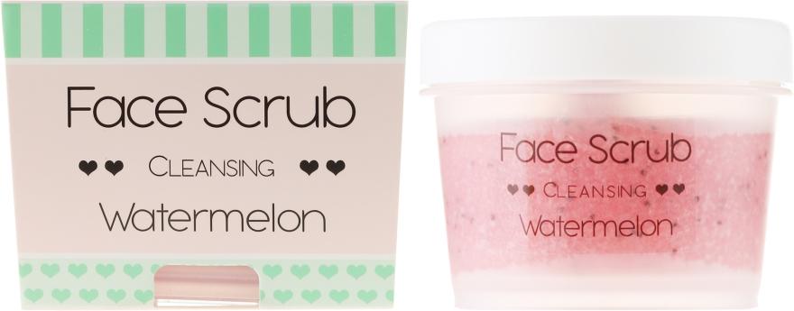 Hydratačný peeling na tvár a pery - Nacomi Moisturizing Face&Lip Scrub Watermelon