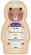 """Voňavky, Parfémy, kozmetika Prostriedky na umývanie vlasov, tela a tváre """"Biscuit"""" - On Line Le Petit Biscuit 3 In 1 Hair Body Face Wash"""