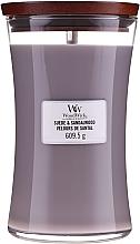 Voňavky, Parfémy, kozmetika Vonná sviečka v pohári - WoodWick Suede & Sandalwood Candle