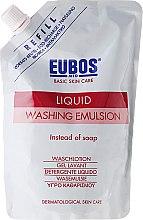 Voňavky, Parfémy, kozmetika Sprchovácia emulzia - Eubos Med Basic Skin Care Liquid Washing Emulsion Red (vymeniteľná jednotka)