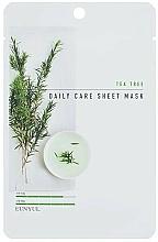 Voňavky, Parfémy, kozmetika Latková maska na tvár s čajovníkom - Eunyul Daily Care Mask Sheet Tea Tree