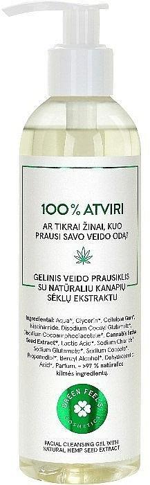 Čistiaci gél na tvár s prírodným extraktom z konopných semien - Green Feel's