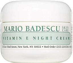 Voňavky, Parfémy, kozmetika Nočný krém na tvár s vitamínom E - Mario Badescu Vitamin E Night Cream