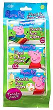 Voňavky, Parfémy, kozmetika Vlhčené utierky - Kokomo Peppa Pig Peppa Hand & Face Wipes