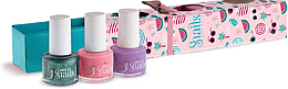 Voňavky, Parfémy, kozmetika Sada detských lakov na nohy 3x7ml - Snails Mini Bebe Berry-Licious