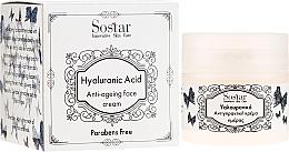 Voňavky, Parfémy, kozmetika Krém na tvár s kyselinou hyalurónovou proti starnutiu - Sostar Hyaluronic Acid Anti-Aging Face Cream
