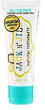 Voňavky, Parfémy, kozmetika Prírodná zubná pasta s čučoriedkovou príchuťou - Jack N' Jill Natural Toothpaste Blueberry