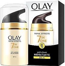 Voňavky, Parfémy, kozmetika Hydratačný denný krém SPF15 - Olay Total Effects Anti-Edad Hidratante SPF15