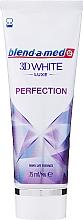 """Voňavky, Parfémy, kozmetika Zubná pasta """"Dokonalosť"""" - Blend-a-med 3D White Luxe Perfection"""