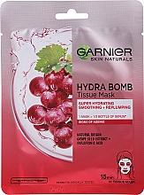 """Voňavky, Parfémy, kozmetika Látková maska na tvár """"Hydratácia + vyhladenie"""" - Garnier Skin Naturals Hydra Bomb"""