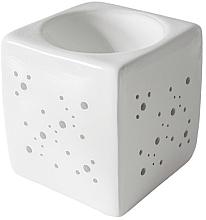 Voňavky, Parfémy, kozmetika Aromatická lampa štvorcová, biela - Flagolie By Paese Cube Fireplace White