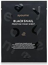 Voňavky, Parfémy, kozmetika Hydratačná textilná maska na tvár so slimákom - Ayoume Black Snail Prestige Mask Sheet