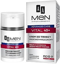 Voňavky, Parfémy, kozmetika Krém na tvár proti vráskam - AA Men Advanced Care Vital 40+ Face Cream Anti-Wrinkle