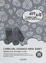 Voňavky, Parfémy, kozmetika Maska s uhlím na tvár - Esfolio Pure Skin Essence Charcoal Mask Sheet