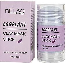 Voňavky, Parfémy, kozmetika Maska na tvár v tyčinke Eggplant - Melao Eggplant Clay Mask Stick