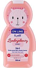 """Voňavky, Parfémy, kozmetika Čistiaci prípravok na vlasy a telo """"Cukriky"""" - On Line Le Petit Candy 3 In 1 Hair Body Face Wash"""