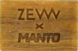 Voňavky, Parfémy, kozmetika Mydlo na tvár a telo s koloidným striebrom, vitamínom C a dreveným uhlím - Zew For Men X Manto Body And Face Soap