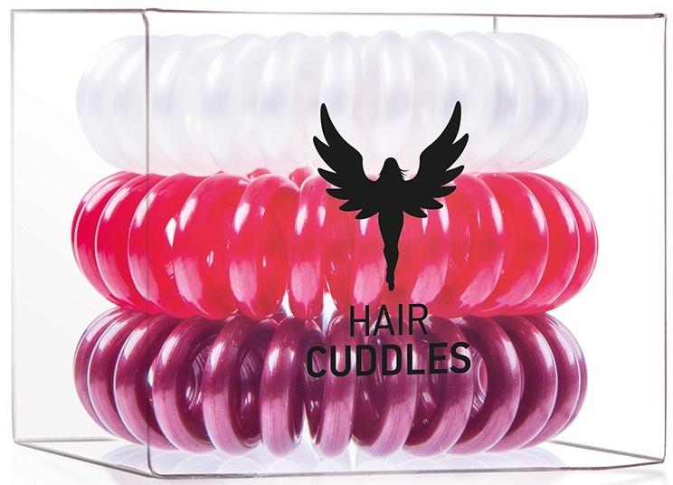 Gumička do vlasov - HH Simonsen Hair Cuddles Red, Dark Red, Pearl — Obrázky N1