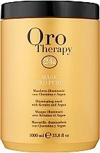 Voňavky, Parfémy, kozmetika Regeneračná maska s aktívnymi mikročasticami zlata - Fanola Oro Therapy Oro Puro Mask