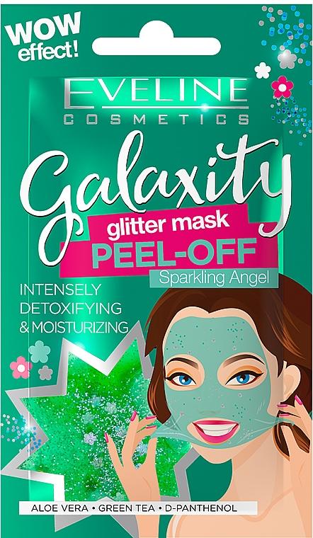 Hydratačná textilná maska na tvár - Eveline Cosmetics Galaxity Glitter Mask Peel-off