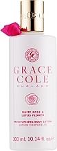 """Voňavky, Parfémy, kozmetika Telové mlieko """"Biela ruža a lotosový kvet"""" - Grace Cole White Rose & Lotus Flower Body Lotion"""