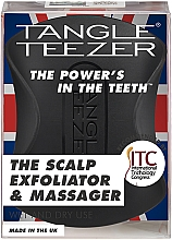 Voňavky, Parfémy, kozmetika Kefa na masáž hlavy - Tangle Teezer The Scalp Exfoliator & Massager Onyx Black
