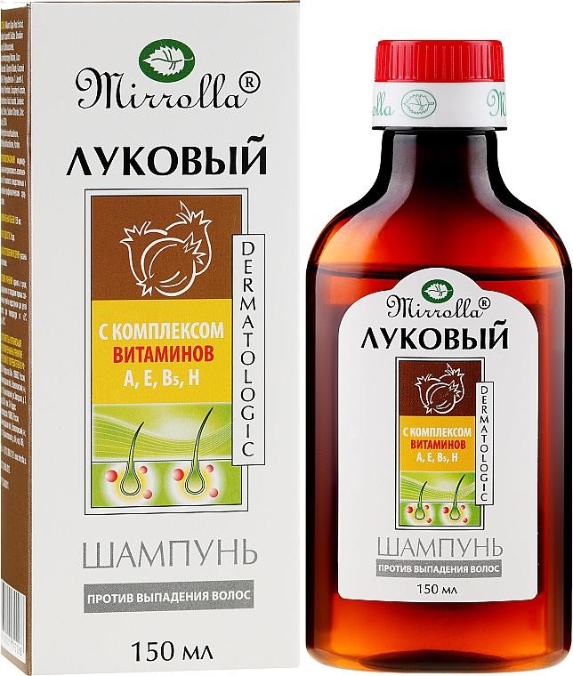 Cibulový šampón s komplexom vitamínov - Mirrolla