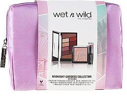 Voňavky, Parfémy, kozmetika Sada - Wet N Wild Midnight Goddess Collection (eyesh/palette/8.5g + powder/9g + lipstick/3.3g + bag)