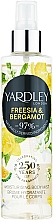 Voňavky, Parfémy, kozmetika Yardley Freesia & Bergamot - Telový sprej