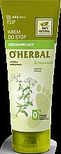 Voňavky, Parfémy, kozmetika Krém na nohy dezodorant s výťažkami z rebríčka - O'Herbal Deodorizing Foot Cream With Yarrow Extract