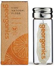 Voňavky, Parfémy, kozmetika Zubná niť, 30 m - Georganics Natural Sweet Orange Dental Floss