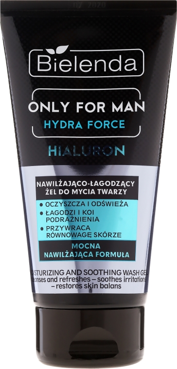 Hydratačný gél na umývanie tváre - Bielenda Only For Man Hydra Force Hialuron Face Wash Gel — Obrázky N1