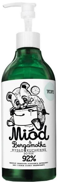 """Kuchynské tekuté mydlo """"Med a Bergamot"""" - Yope Honey & Bergamot Hand Soap"""