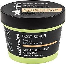 """Voňavky, Parfémy, kozmetika Scrub na nohy s pemzou """"Zázvor a bergamot"""" - Cafe Mimi Foot Scrub Pumice"""