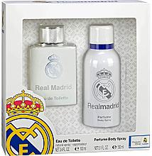 Voňavky, Parfémy, kozmetika Air-Val International FC Real Madrid - Sada (edt/100ml + deo/spray/150ml)